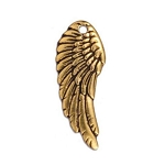 TierraCast Right Angel Wing Charm, Antique Gold